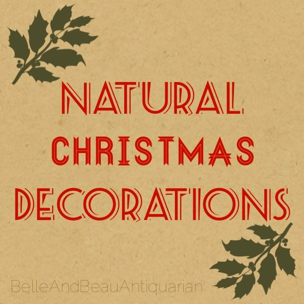 Making Natural Christmas Decorations: Belle & Beau Antiquarian: Natural Christmas Decorations