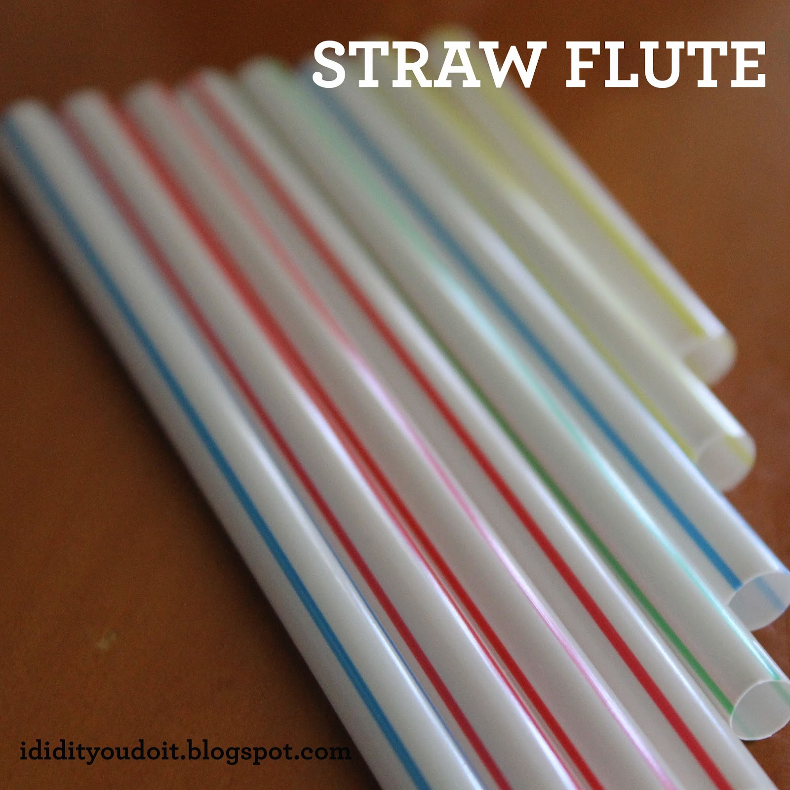 I Did It - You Do It: Straw Flute