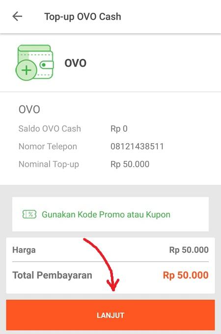 Lakukan Pembayaran OVO Cash