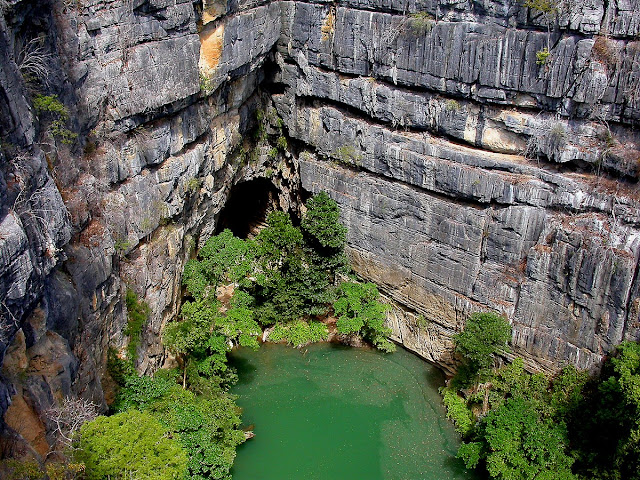 le lac vert, au coeur des Tsingy