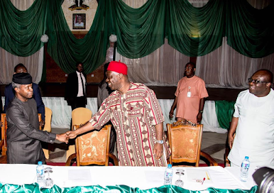 Igbo ultimatum: Acting president, Yemi Osinbajo, meets with South East leaders (photos)