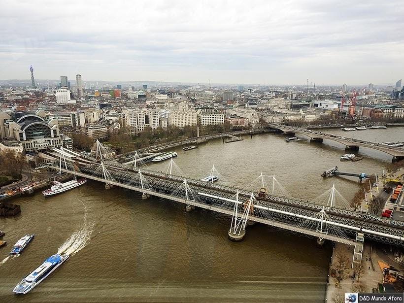 Rio Tâmisa visto da London Eye: como visitar a roda-gigante de Londres