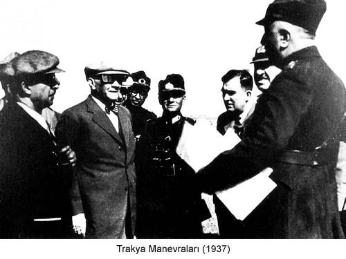 Atatürk Trakya Manevraları 1937 Fotoğraf