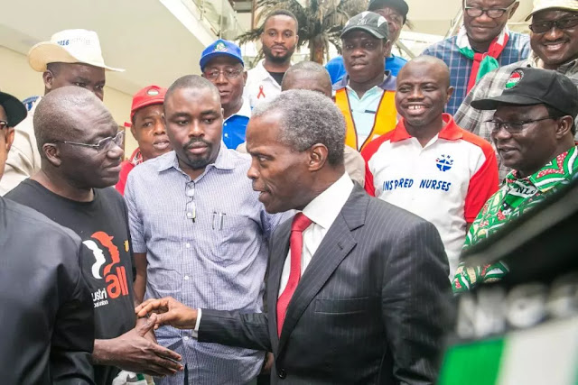 Read What Osinbajo Told Protesting Labour Leaders