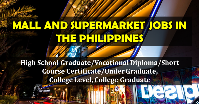 Local job postings for mall and supermarket jobs in the philippines malvernweather Images