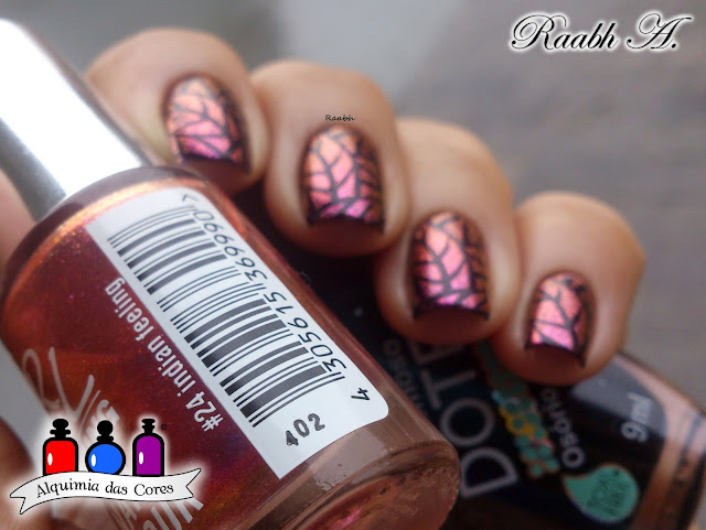Esmalte Multichrome, Rival de Loop Young, RdL #24 Indian Feeling, Rival de Loop Young #24 Indian Feeling, BP-L 001, Unhas carimbadas, Nail Art, Raabh A.