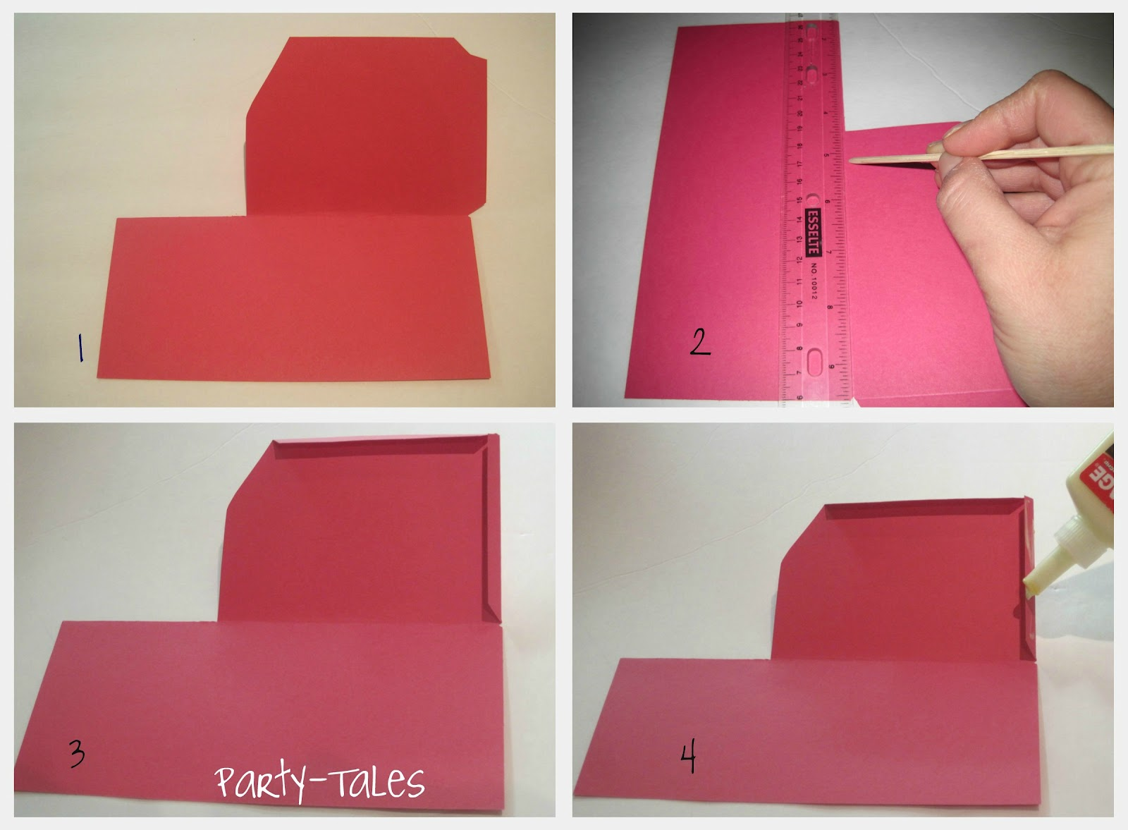 party tales tutorial diy how to make a boarding pass invitation