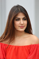 Rhea Chakraborty in Red Crop Top and Denim Shorts Spicy Pics ~  Exclusive 328.JPG