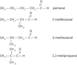 isomer struktur pentanal