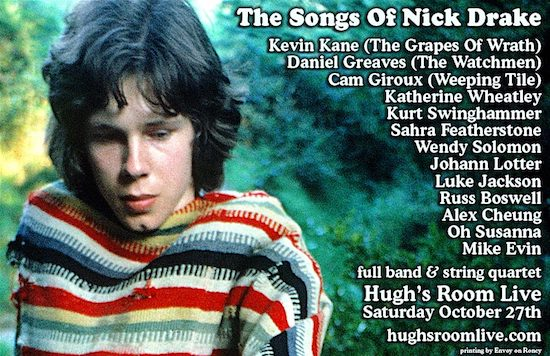 Songs of Nick Drake @ Hugh's Room Live, Saturday