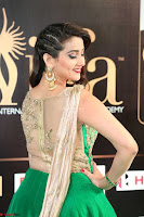 Manjusha in Beautiful Sleeveless Green Anarkali dress at IIFA Utsavam Awards 012.JPG
