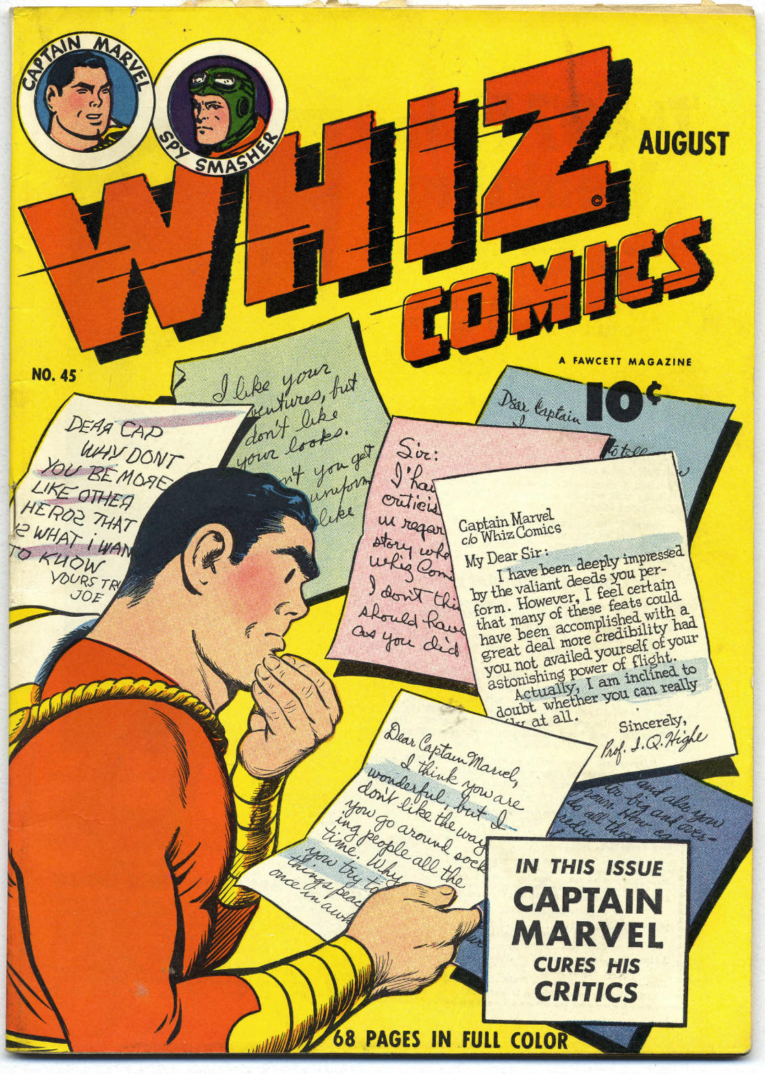 WHIZ Comics issue 45 - Page 1