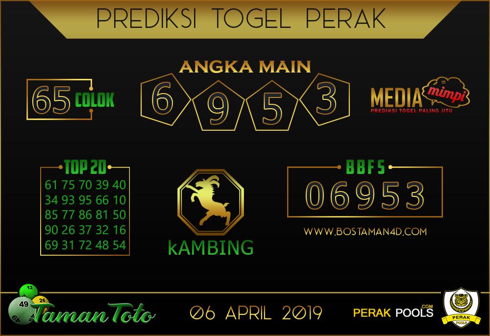 Prediksi Togel PERAK TAMAN TOTO 06 APRIL 2019