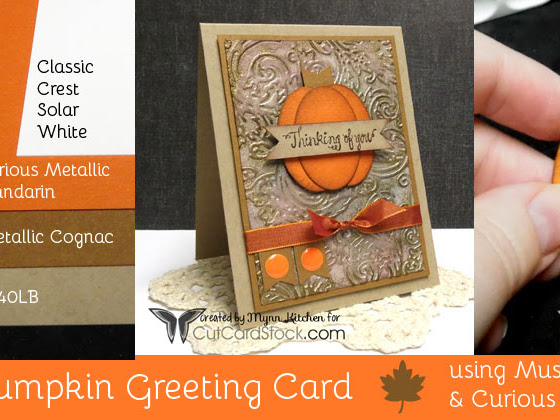 Punched Pumpkin Card