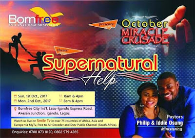 Born Free Ministries Plans October Miracle Crusade