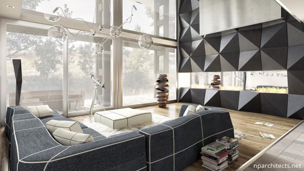 современная мебель в гостиную дома