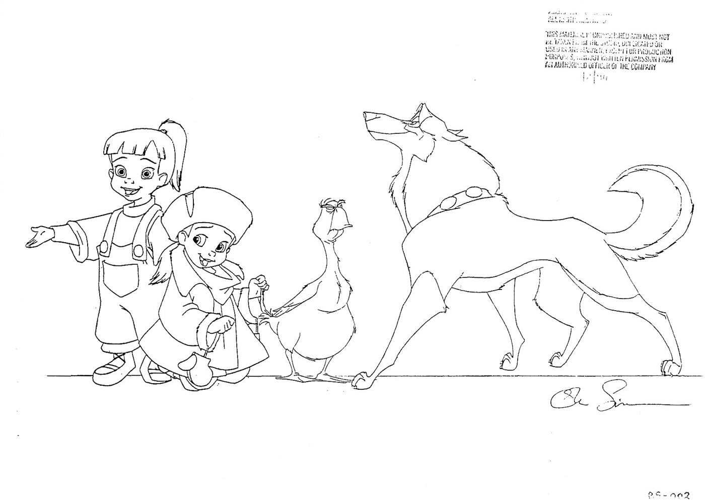 universal movie coloring pages | Living Lines Library: Balto (1995) - Characters, Model Sheets