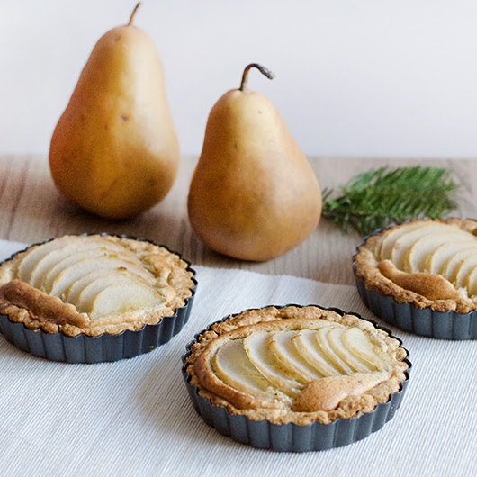 Mini Pear Almond Tart