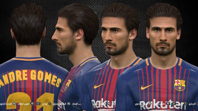 Andre Gomes Face (FC Barcelona) PES 2017