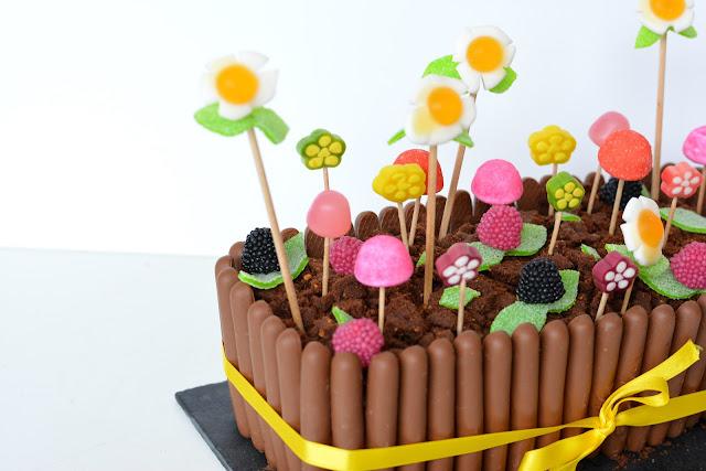 Mon Gâteau de Pâques... Jardinière au chocolat et bonbons