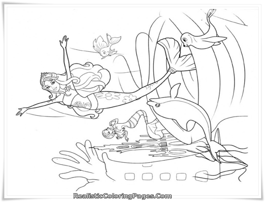 Generous Barbie Swimming Coloring Pages Images - Entry Level Resume ...