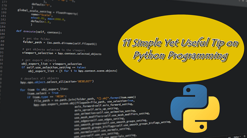 Python Programming Useful Tips