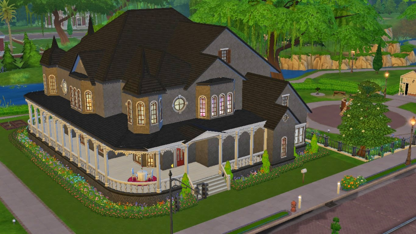 sims 4 house,sims 4 victorian house