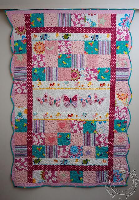 pink patchwork quilt, lapitekid lastele