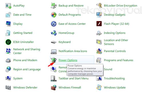Cara Menambahkan Tombol Hibernate Windows 7 3