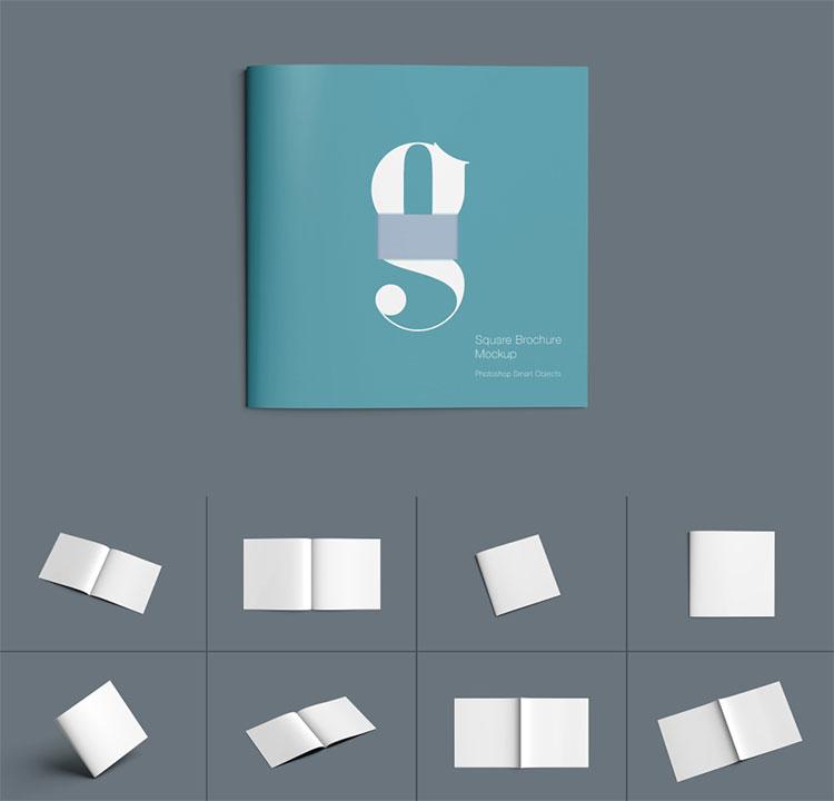 Square Brochure Mockup Download