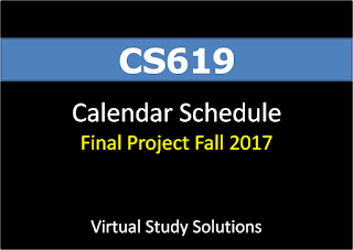 CS619 Final Project Calendar Schedule for Fall 2017