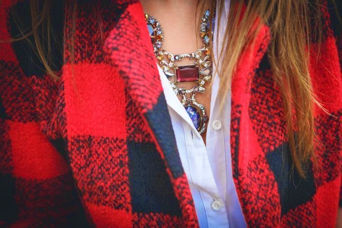 Sheinside,abrigo , cuadros , rojo , Lucía Díez , es cuestion de estilo , street style,