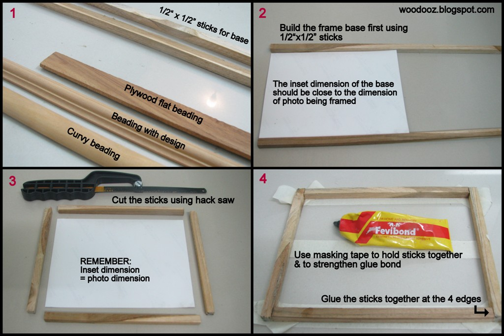 Make Your Own Picture Frames At Home