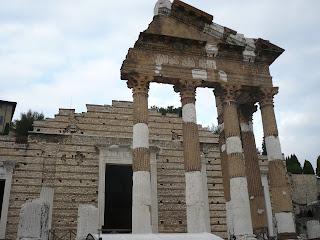 Roman ruins are a feature of the city of Brescia