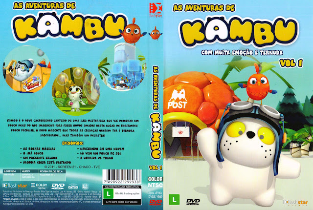Capa DVD AS AVENTURAS DE KAMBU VOLUME 1