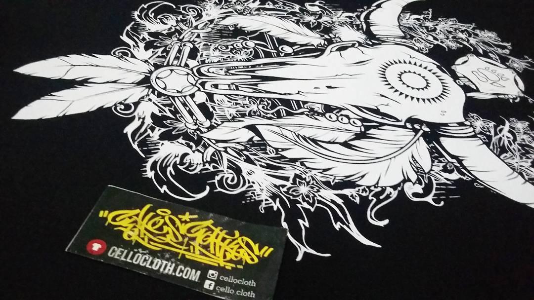 Hasil Produksi Sablon Kaos Manual Satuan Edisi Artwork