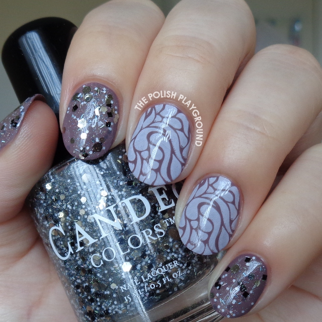 The Polish Playground: Purple Brown and Light Pink Stamping