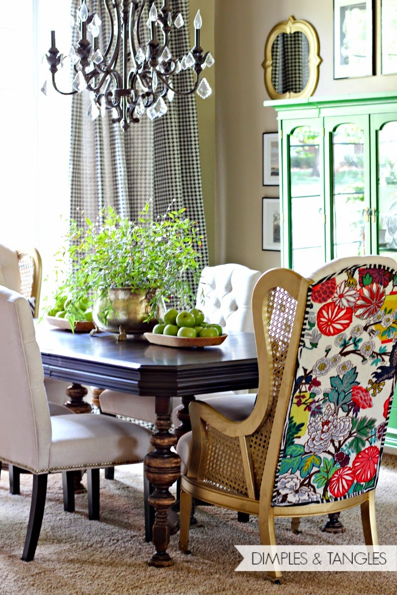 & DINING ROOM HOST CHAIRS: TA-DA! - Dimples and Tangles