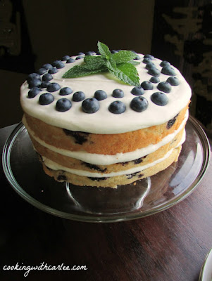 Lemon Blueberry Cake, shared by Cooking with Carlee at The Chicken Chick's Clever Chicks Blog Hop