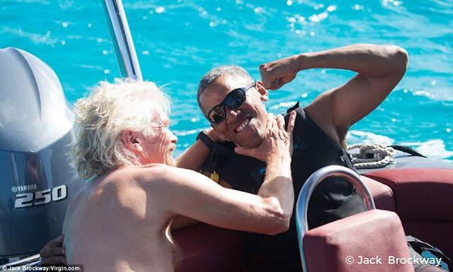 Barack and Branson Bromance