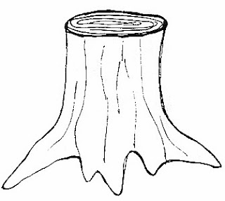 Tree Stump Coloring Coloring Pages