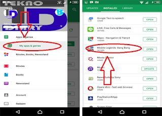 cara menonaktifkan auto update di google play store