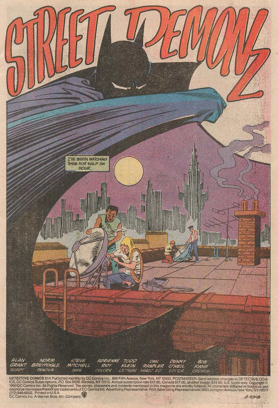 Detective Comics (1937) 614 Page 1