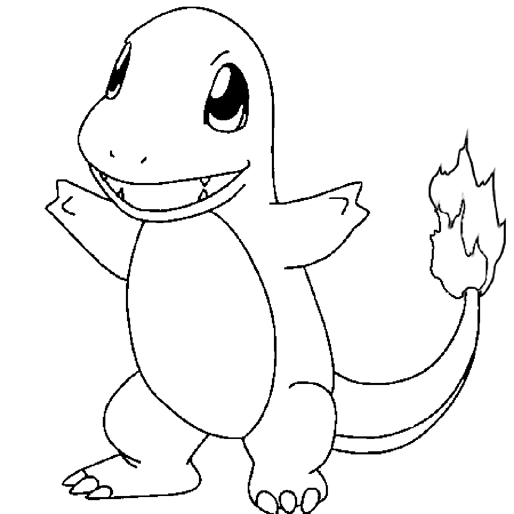 Charmander Pokemon Go Free Coloring Pages 2016