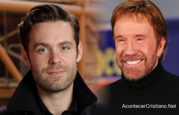 Chuck Norris y su hijo Mike Norris