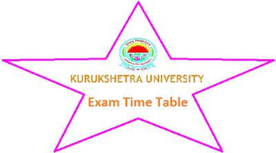 Kuk University Time Table Nov Dec 2018