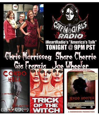actor director Chris Morrissey and Heavy Makeup movie cast members on Coffin Girls Radio