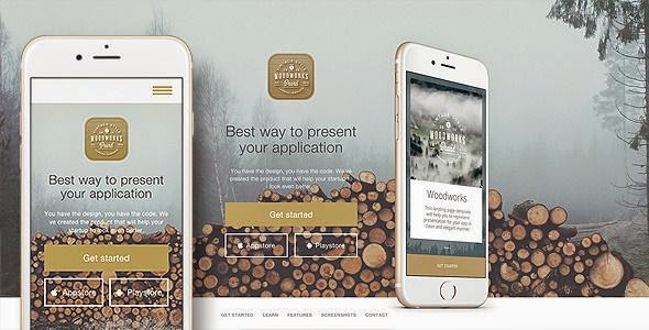 Woodworks - Responsive Bootstrap App Landing page Theme