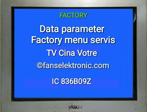 Data Factory Eeprom Parameter Menu Servis TV Cina Votre