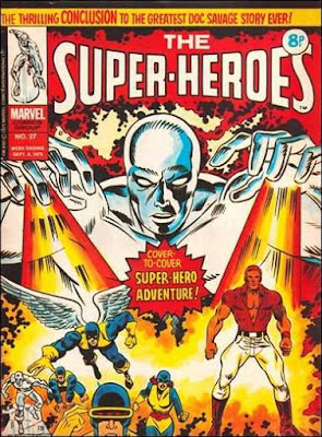 Marvel UK, the Super-Heroes #27, the Silver Surfer, X-Men and Doc Savage